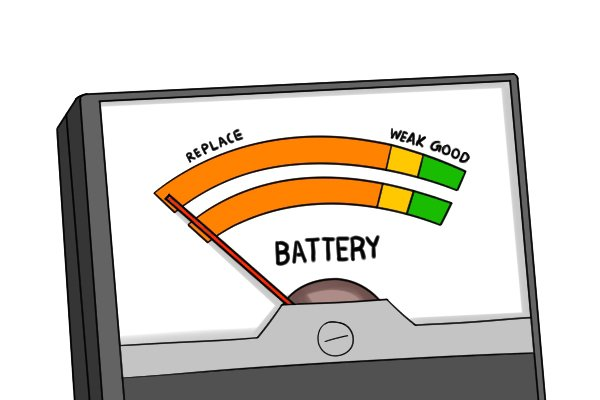 analogue dial indicator battery tester