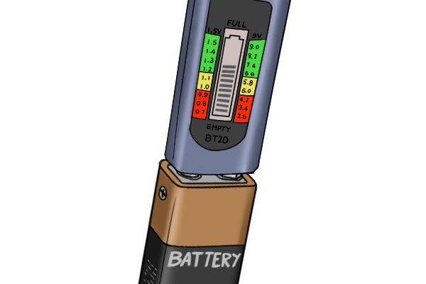 inserting batteries in to tester