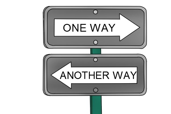 one way, another way sign