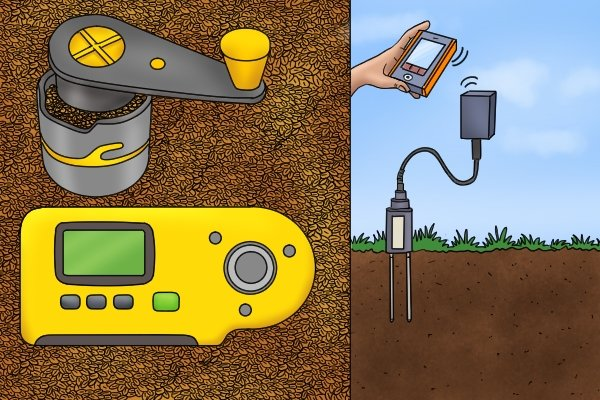 other types of moisture meter, grain moisture meter and soil moisture meter