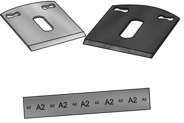 spokeshave blades, A2 tool steel