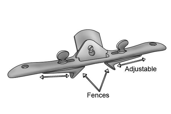 chamfer spokeshave with adjustable fences