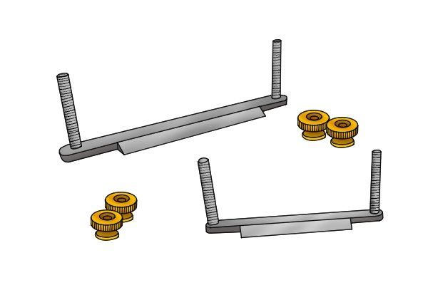 wooden spokeshave blades with screws
