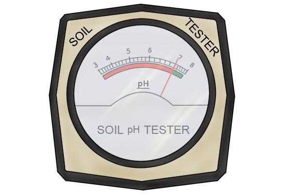 pH meter scale close-up analogue