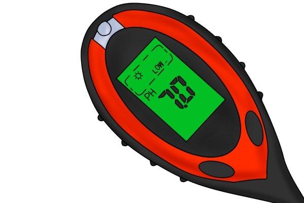 digital pH meter indicator