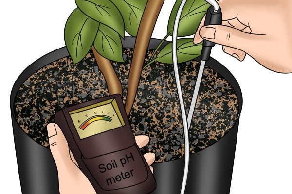 soil pH meter with cable