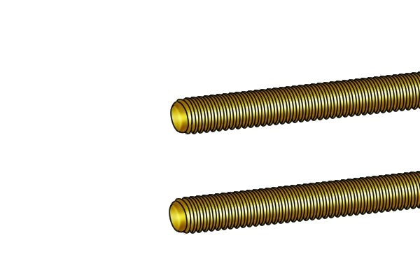 cleanly cut brass threaded rod