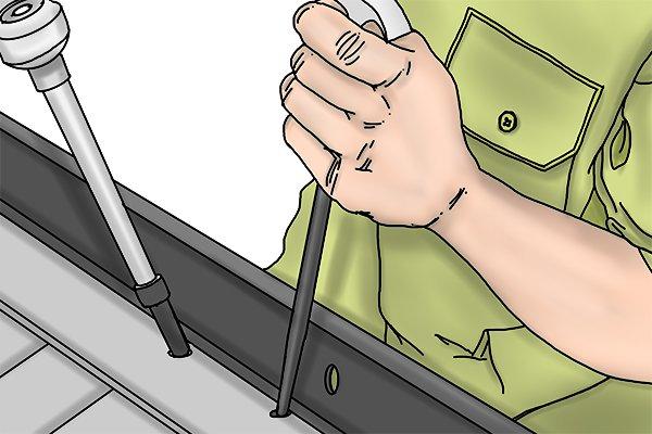 aligning bolt holes,