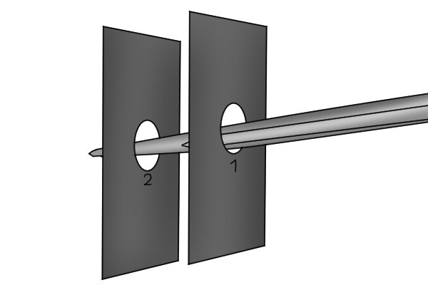 insert bar into second hole,