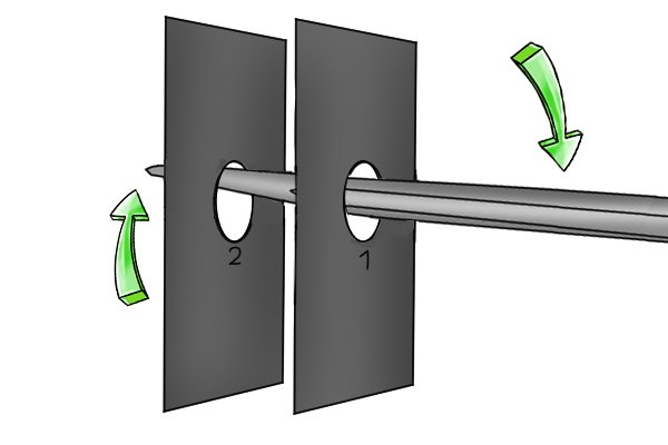 levering, aligning bolt holes, how to align bolt holes,