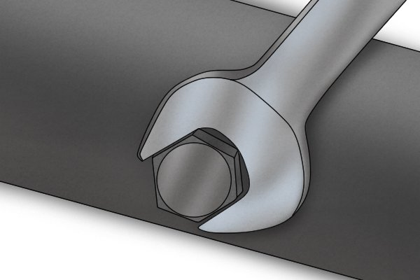 wrench, wrench bolt, screw bolt, using wrench,