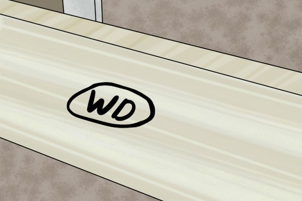 numbered board, trim, baseboard, floor trim,
