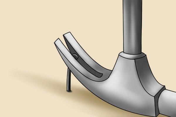claw hammer pulling nail, pulling nail, nail pulling, how to pull nails