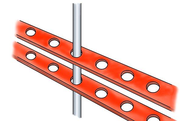 aligning holes, aligning, aligning construction,