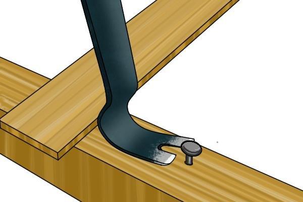 nail pulling, adjustable crowbar, adjustable wrecking bar