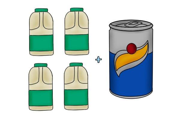 milk, lemonade,
