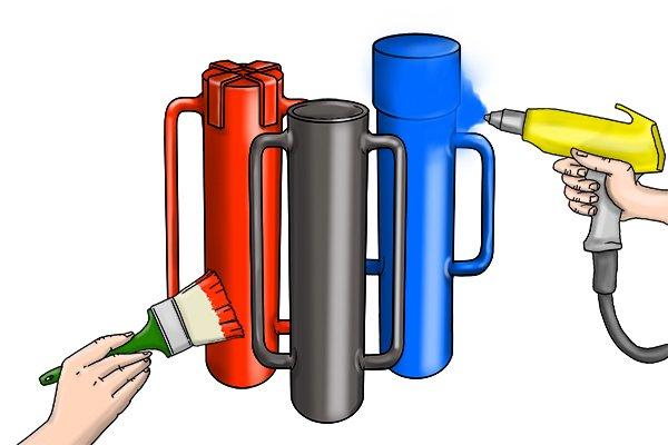 phosphate coating, phosphate, spray coating, spray coating metal, metal finishes, tool finishes,