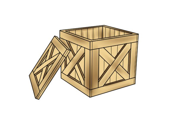 open crate, crate, opening crate, wood crate,