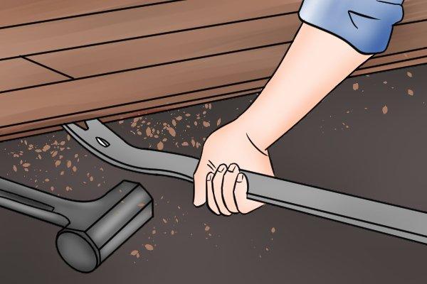 ripping up flooring, removing flooring, lifting flooring, lift flooring,
