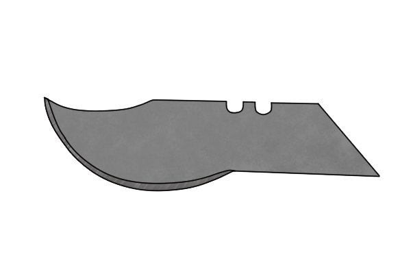 What are the different types of pocket knife blade?
