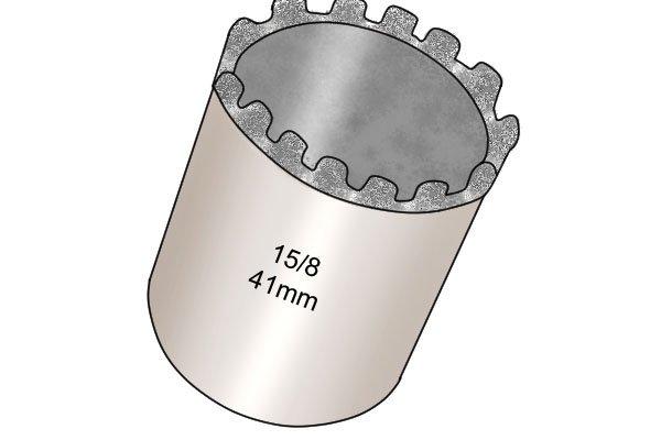 Diamond grit, Diamond edged hole saw, hole cutter, diamond grit