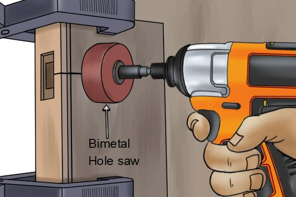 hole saws wonkee donkee tools DIY guide how to use a hole saw