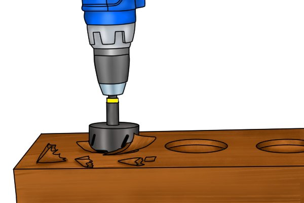 wonkee donkee hole saws clearing chips sawdust how to use a hole saw