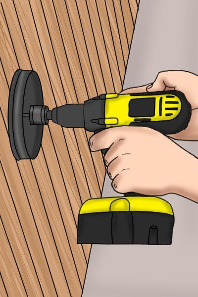Hole saw, installing a light fixture