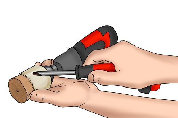 prying out the slug, hole saw, hole cutters, plumbing tools, power tools
