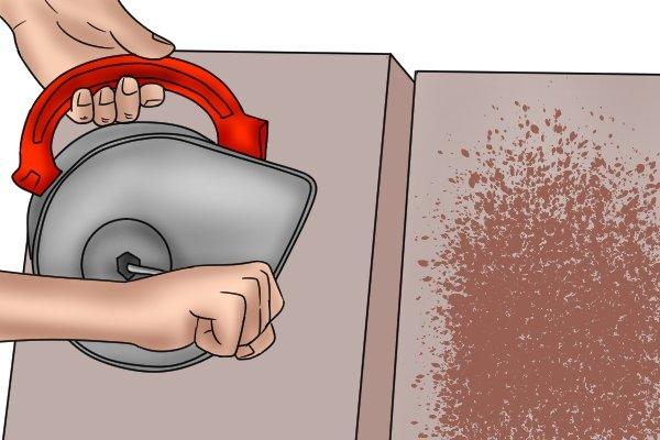Manual coating sprayers hand-held render tyrolean roughcast pebbledash Flickatex machine test piece