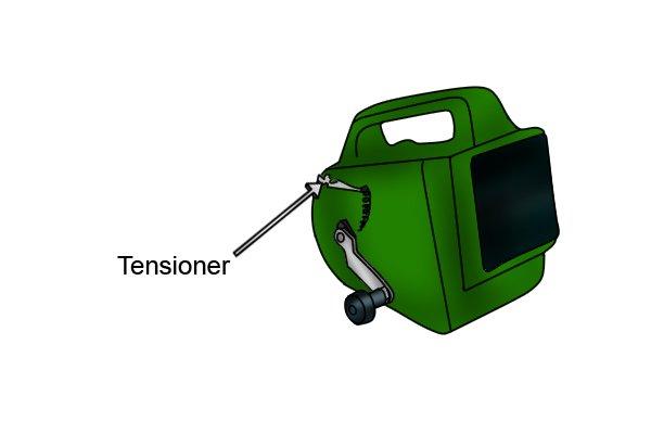 Manual coating sprayers hand-held render tyrolean roughcast pebbledash Flickatex machine Plastic-sprayer - tensioner