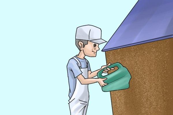 Manual coating sprayers hand-held render tyrolean roughcast pebbledash Flickatex machine spraying applying Tyrolean