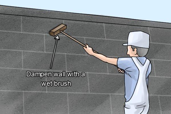 Manual coating sprayers hand-held render tyrolean roughcast pebbledash Flickatex machine Wall dampen wall