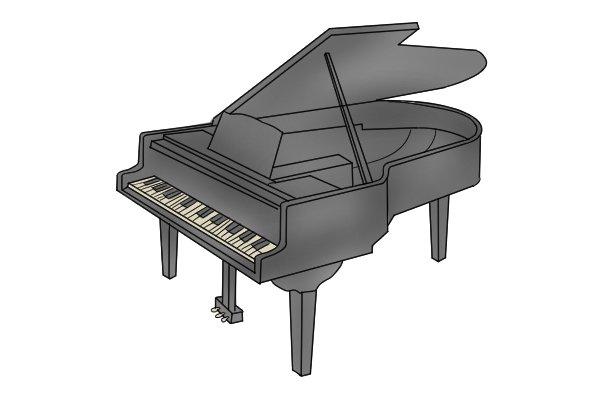 Piano, hardwood, timber, grain
