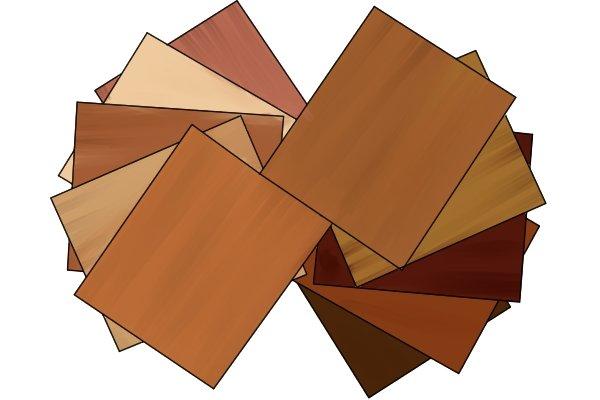 Hardwood veneers, timber, veneered wood