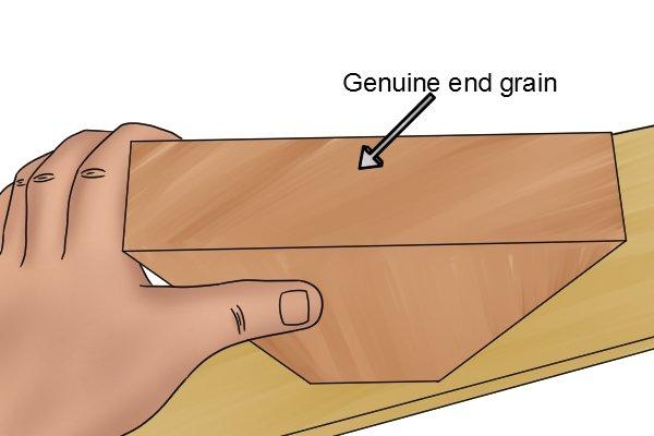 Genuine end grain, hardwood, wood, timber, learn
