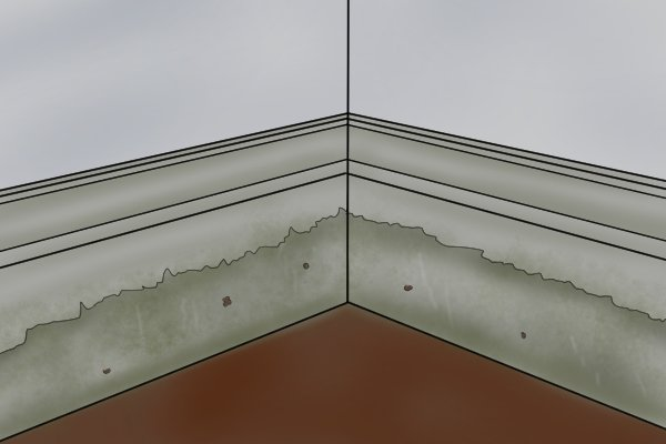 Water damage to MDF skirting, medium density fibreboard, manufactured boards