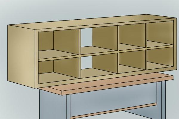 Making a unit from MDF, medium density fibreboard, manufactured boards
