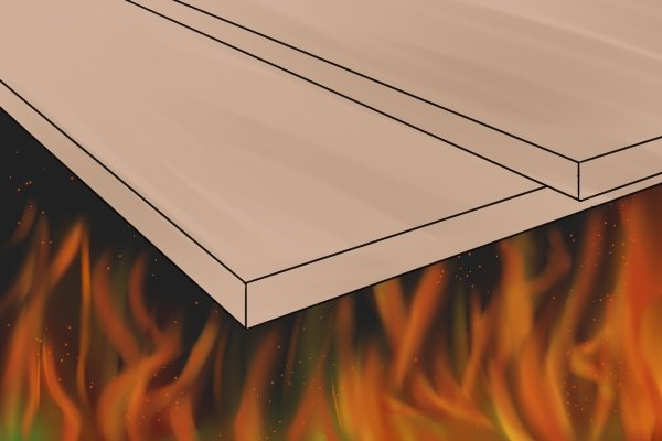 Fire retardant MDF, medium density fibreboard, manufactured board