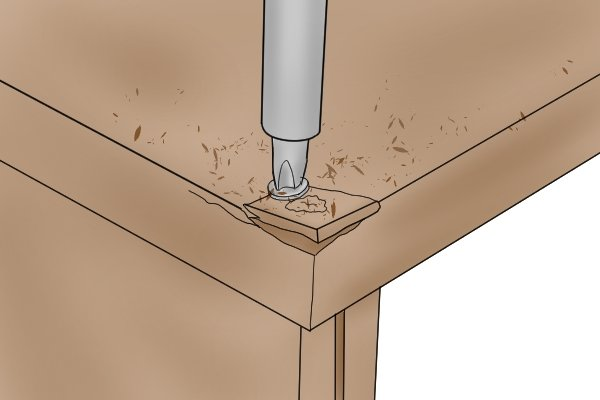 MDF is easily split by screws if a pilot hole is not drilled first, medium density fibreboard, manufactured wood panels