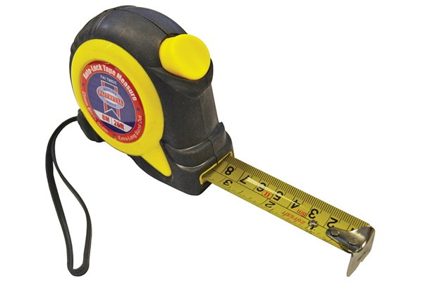 Auto-lock tape measure 8 metre 26 feet; must have tools for house renters; top tools tenants