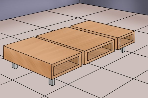 Plywood is used extensively in furniture manufacture