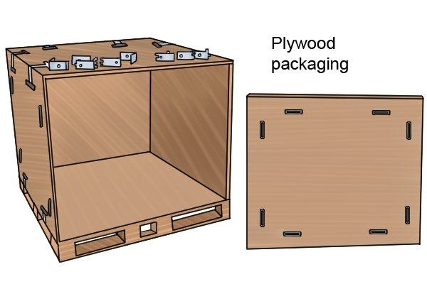 Plywood is used for packaging as well as in construction, furniture-making and thousands of other applications