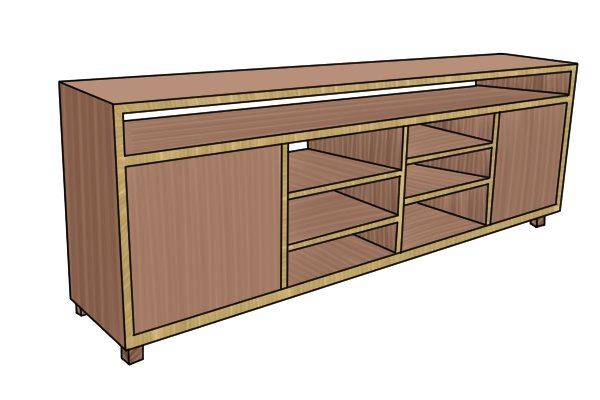Furniture made from plywood, manufactured board, sheet products