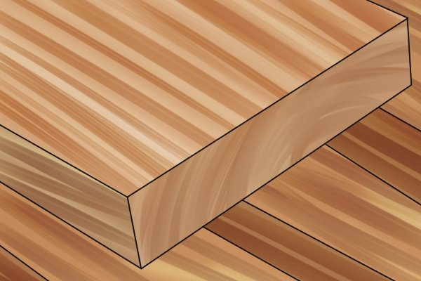 PAR softwood, planed all round, timber
