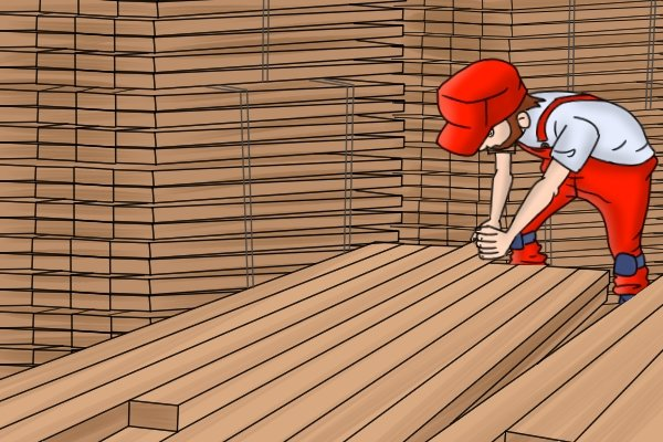 Softwood is stocked in different stages of preparation, PAR, PBS, PSE, wood, timber