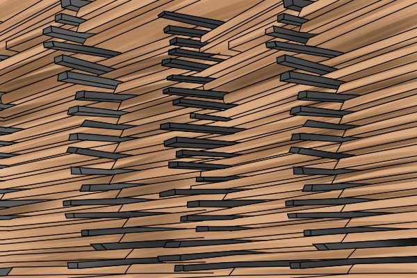 A stack of softwood, timber, wood