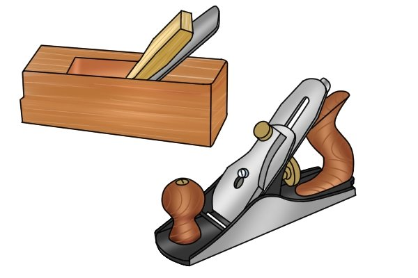 Metal and wooden smoothing plane
