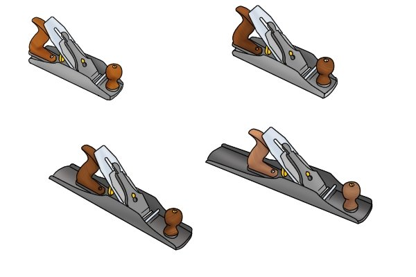 A selection of Stanley-Bailey style bench planes