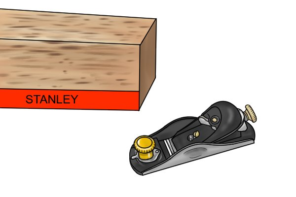 Stanley block plane and its box
